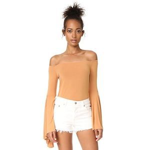 We the Free Off the Shoulder Bell Sleeve Top
